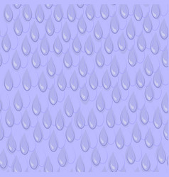 seamless blue pattern with a lot of rain drops vector image