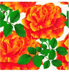 seamless texture flower orange rose stem vintage vector image