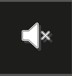 Silence and mute icon sound volume button vector