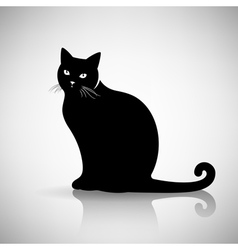 Silhouette of a Cat Sitting vector