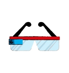 Smart glasses technology vector image