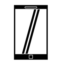 Smartphone mobile technology silhouette vector