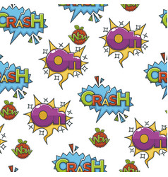 speech bubble with exclamations for comics vector image