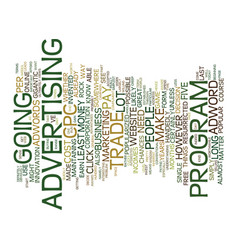 The cpc trade off text background word cloud vector
