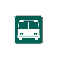 Usa traffic road signsgeneral information sign vector