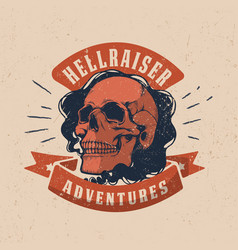 vintage motorcycle graphics biker t-shirt vector image