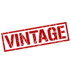 vintage stamp vector image