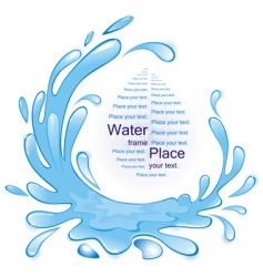 Water frame vector