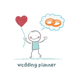 Wedding planner keeps the ball in the form of a vector