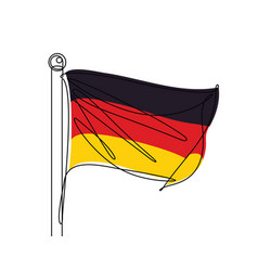 german flag continuous line vector image