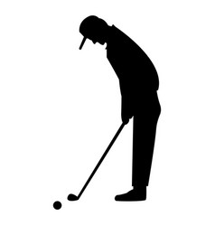 golfer the black color icon vector image