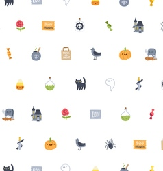 Halloween super seamless pattern vector image