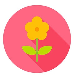 Yellow Flower Circle Icon vector image vector image