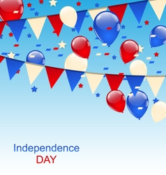 American Greeting Card with Balloons and Bunting vector image vector image