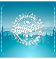 Big winter sale poster vector image