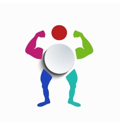 concept muscle body vector image