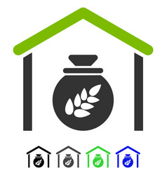 Grain storage flat icon vector