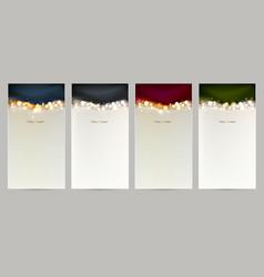 holiday set of four christmas shining abstract vector image