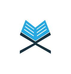 koran colorful icon symbol premium quality vector image vector image