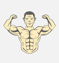 men bodybuilding fitness lifestyle vector image
