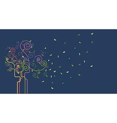 Swirl spring tree vector image vector image