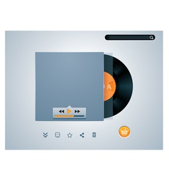 vinyl disk in envelope music player vector image vector image