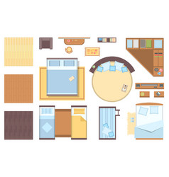 Bedroom elements - set of modern objects vector