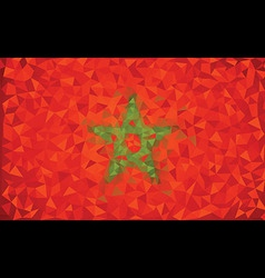 Flag Morocco grunge mosaic geometric pattern vector image