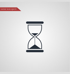 hourglass icon simple vector image