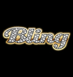 bling bling style vector image vector image