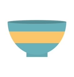 Blue and yellow bowl empty vector