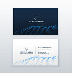 creative concept of business card design with vector image