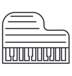 grand piano line icon sign vector image