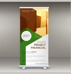 rollup design template vertical standee vector image