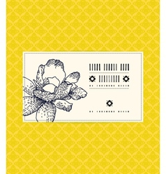 vintage card with peony flower vector image vector image