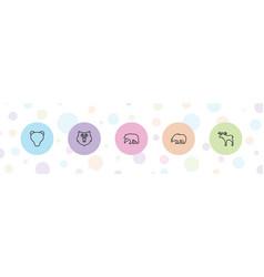 5 alaska icons vector