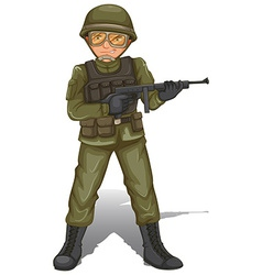 A brave military soldier vector image