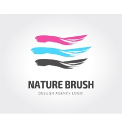 Abstract studio logo template for branding vector image