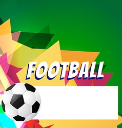 Abstract style football design vector