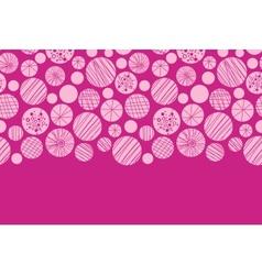 Abstract textured pink circles horizontal border vector image