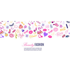 beauty shop and fashion vector image