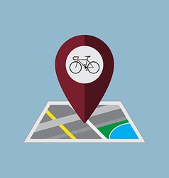 bicycle map pin vector image