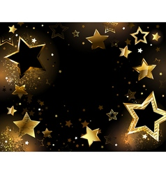Black Background with Gold Stars vector image