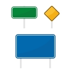 blank green blue yellow warging information road vector image