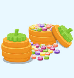 boxes sweets vector image