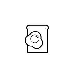 breakfast toast egg icon vector image