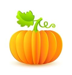Bright Halloween paper pumpkin vector