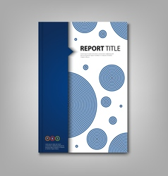 Brochures book or flyer with abstract blue design vector image