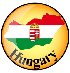 Button Hungary vector