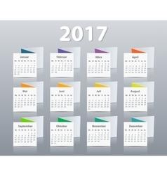 Calendar 2017 year German Week starting on Monday vector